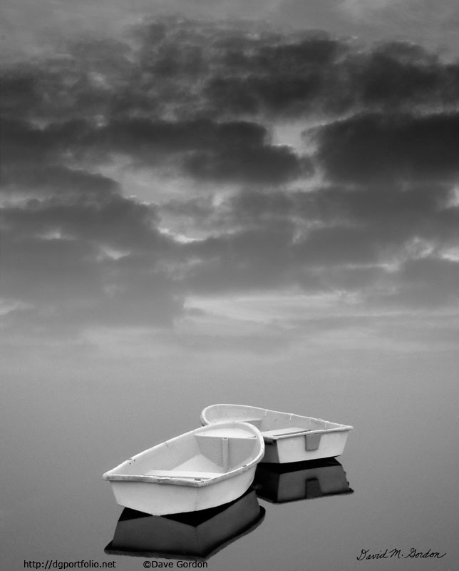 Two Boats and Clouds image