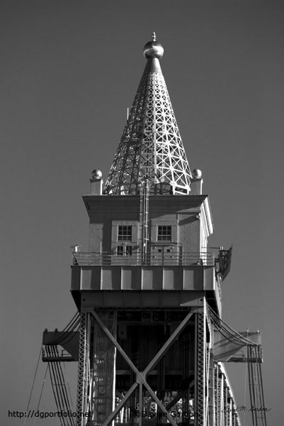 Cape Cod Canal RR Bridge Tower BW