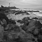 Pigeon Point Lighthouse BW fine art black and white photograph