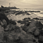 Pigeon Point Lighthouse Toned fine art sepia photograph