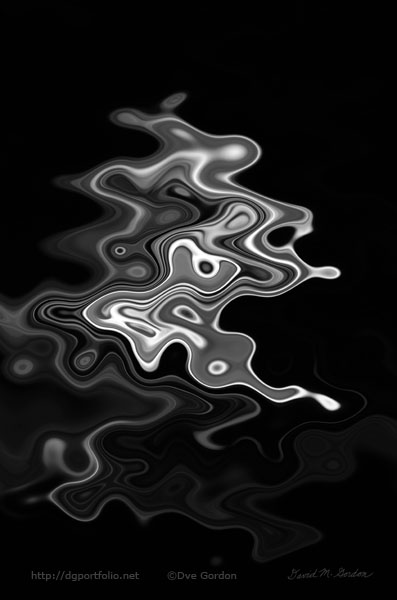 Abstract Swirl Monochrome