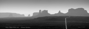 Monument Valley Panorama I BW