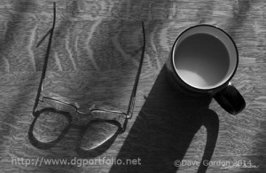 Glasses and Coffee Cup