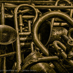 Old Brass Musical Instruments image