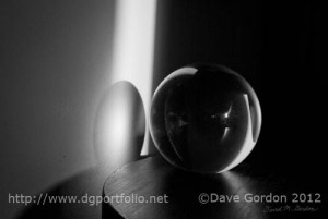 Glass Sphere in Light and Shadow