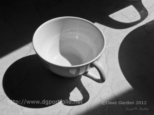 Coffee Cup in Light and Shadow